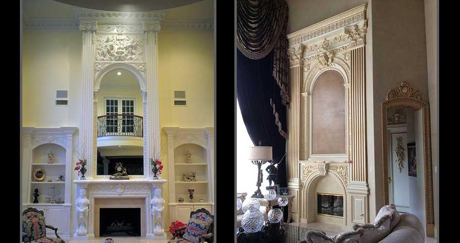 Fireplaces Dallas Decorative Plaster Of Paris Plaster